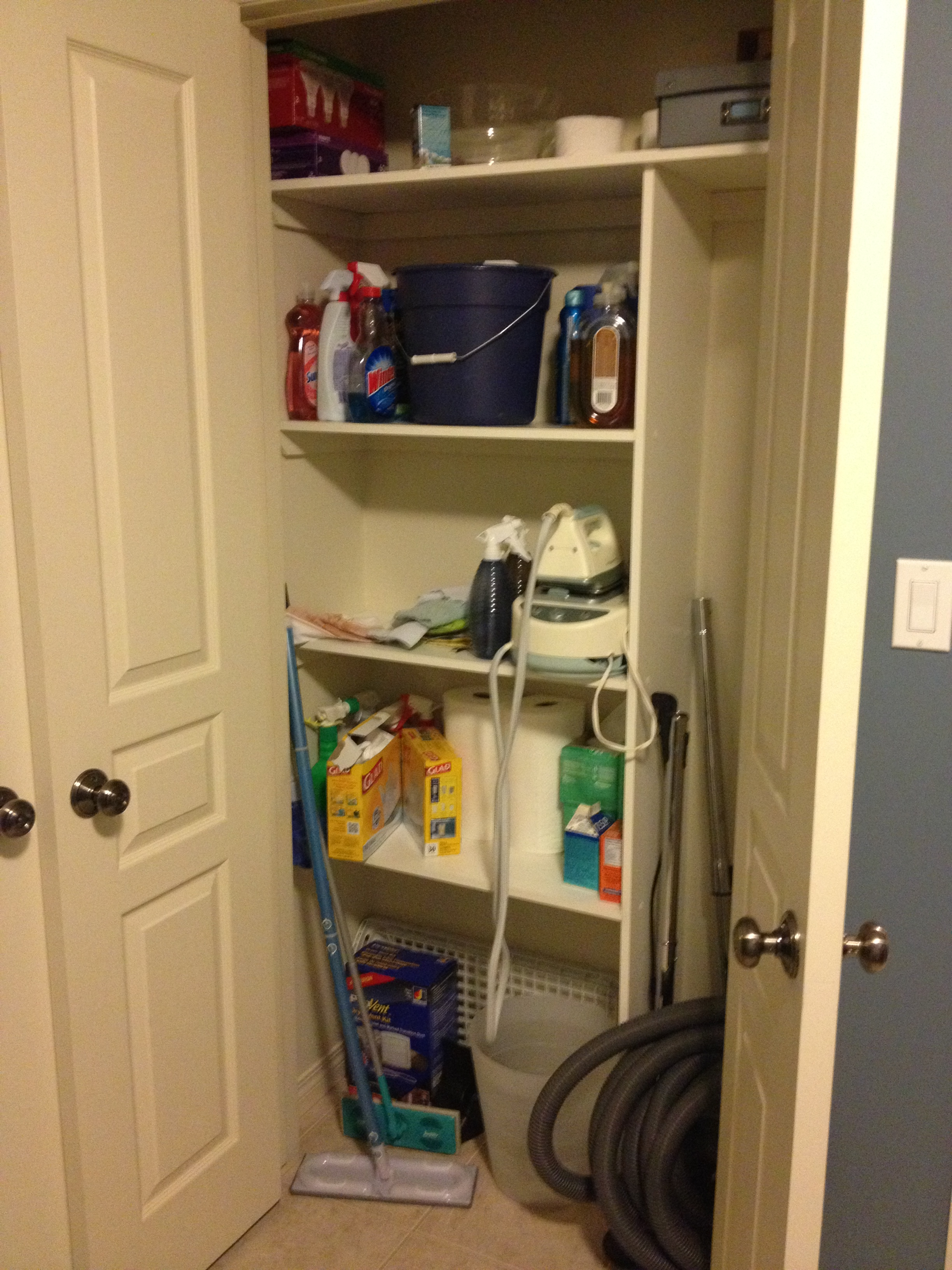 organization project the broom closet let s look at it before