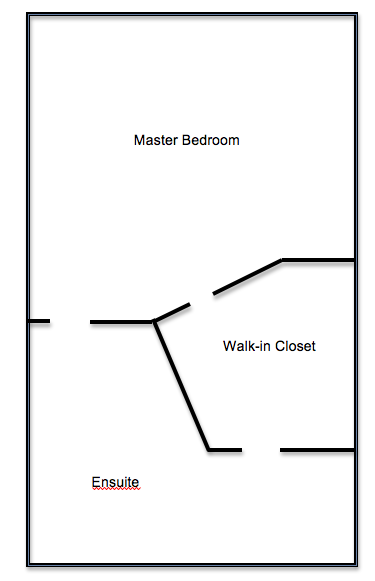 Master Bedroom Plans Before