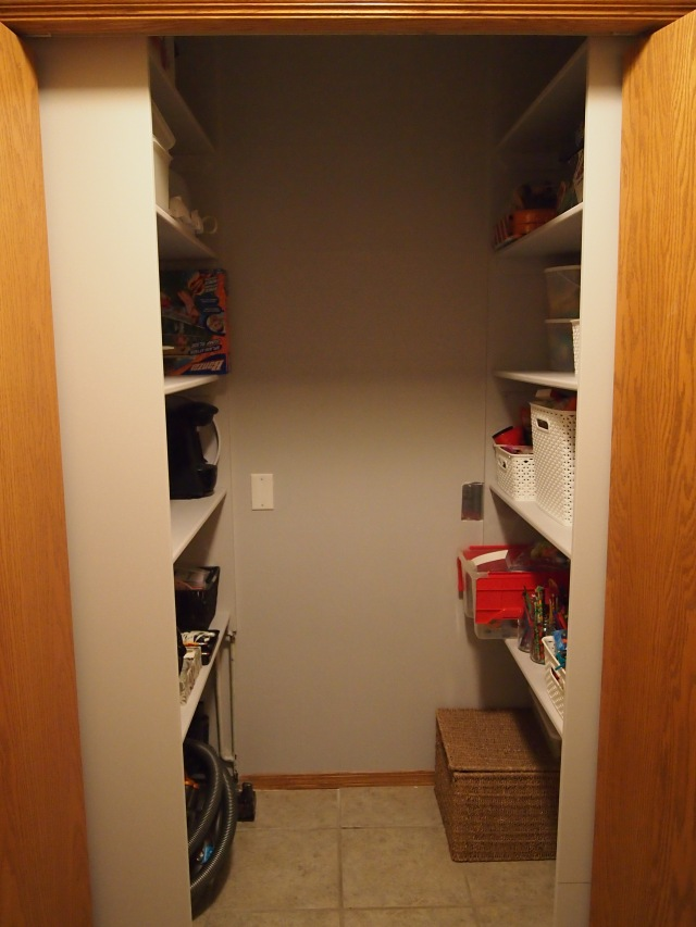 Front view of the closet